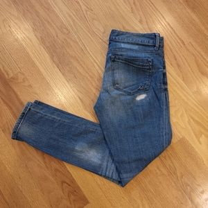 Express Stella Ankle Skinny Distressed Jeans